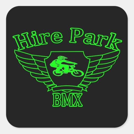 Pegatinas cuadrados del parque BMX del alquiler Calcomania Cuadrada Personalizada