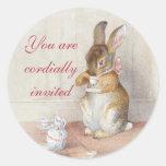 Pegatinas de encargo del conejo de conejito de Bea