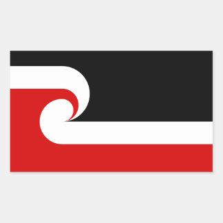 Pegatinas de la bandera de Māori Rectangular Pegatinas