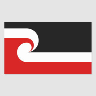 Pegatinas de la bandera de Māori Pegatina Rectangular