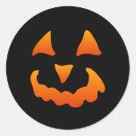 Pegatinas de la calabaza de Halloween (20 Etiquetas Redondas