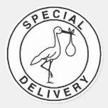 Pegatinas de la entrega especial etiquetas redondas