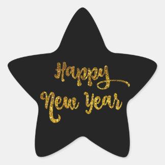 Pegatinas de la estrella de la Feliz Año Nuevo del Pegatina En Forma De Estrella
