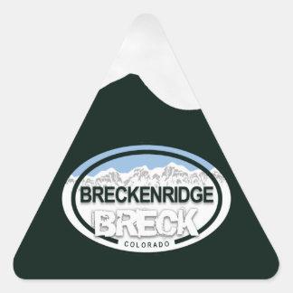 Pegatinas de la etiqueta de la montaña de Breckenr