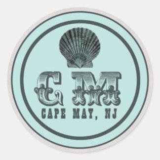 Pegatinas de la etiqueta de la playa de Cape May