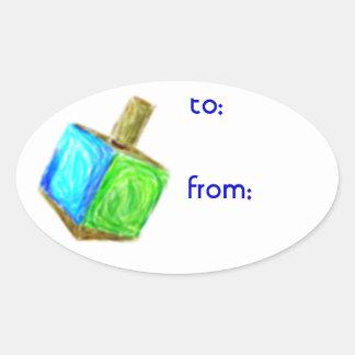 Pegatinas de la etiqueta del regalo de Jánuca