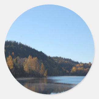 Pegatinas de la foto de la naturaleza pegatina redonda