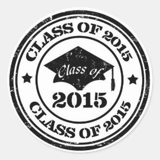 Pegatinas de la graduación - clase de los sellos pegatina redonda