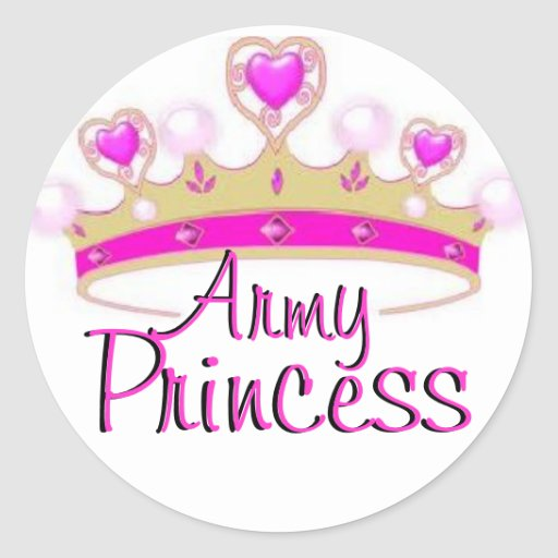 Pegatinas de la princesa del ejército pegatina redonda