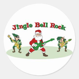Pegatinas de la roca de Jingle Bell Pegatina Redonda