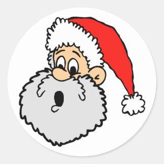 Pegatinas de la tarjeta de Navidad Pegatina Redonda
