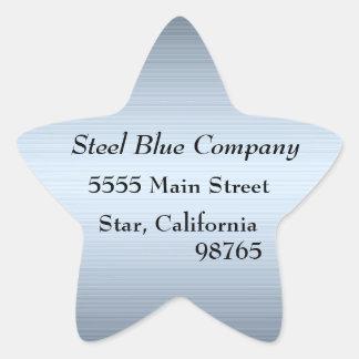 Pegatinas de las etiquetas de dirección del metal colcomanias forma de estrellaes personalizadas