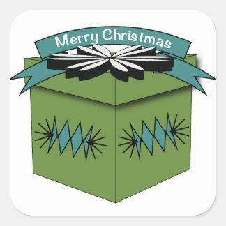 Pegatinas de las Felices Navidad Pegatina Cuadrada