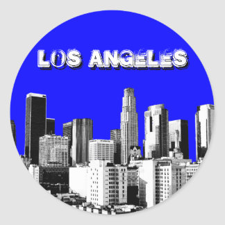 Pegatinas de Los Ángeles Pegatina Redonda
