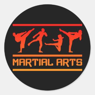 Pegatinas de los artes marciales pegatina redonda