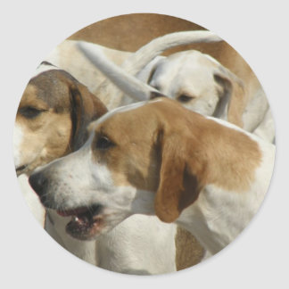 Pegatinas de los perros de caza pegatina redonda