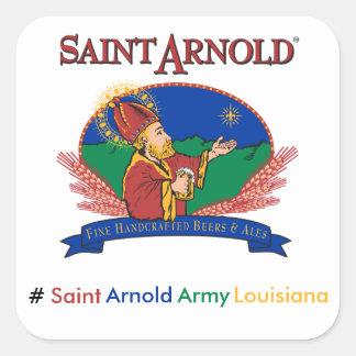 Pegatinas de Luisiana del ejército de Arnold del Pegatina Cuadrada