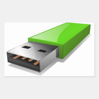 Pegatinas de memoria USB Pegatina Rectangular