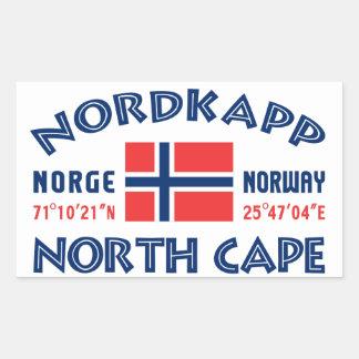 Pegatinas de NORDKAPP Noruega Pegatina Rectangular