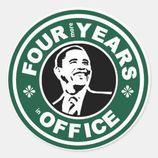 Pegatinas de Obama Pegatina Redonda