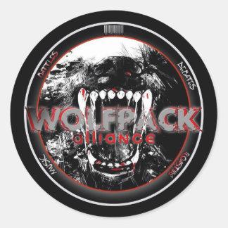 Pegatinas de WolfPack Pegatinas Redondas