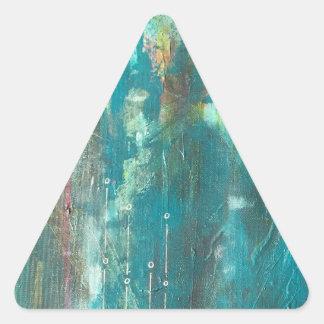 Pegatinas del arte de la carga por teletratamiento pegatina triangular