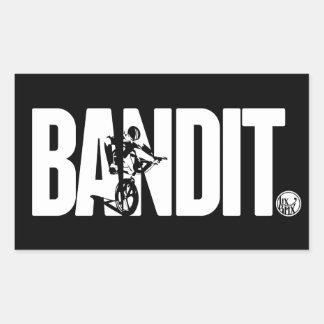 """Pegatinas del bandido' de LixBMX Rectangular Pegatina"