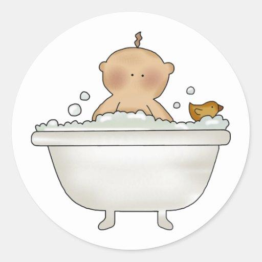Pegatinas del beb del ba o de burbujas etiquetas redondas - Pegatinas para bano ...