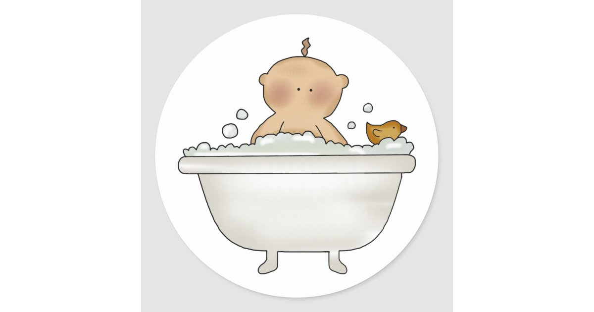 Pegatinas del beb del ba o de burbujas pegatina redonda - Pegatinas para bano ...