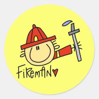 Pegatinas del bombero pegatinas redondas