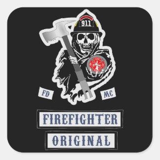 ¡Pegatinas del bombero! Pegatina Cuadrada
