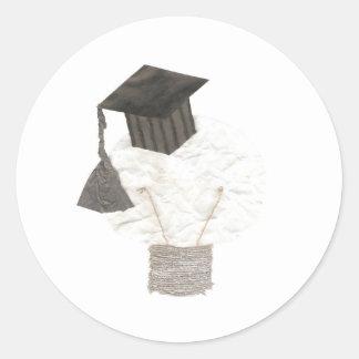 Pegatinas del bulbo del graduado pegatina redonda