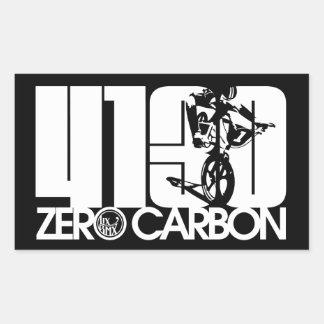 """Pegatinas del carbono cero de LixBMX """"4130 -' Pegatina Rectangular"""