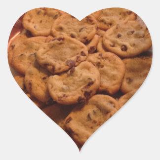 Pegatinas del corazón de las galletas de pegatina en forma de corazón