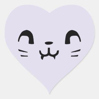 Pegatinas del corazón del gatito del vampiro pegatina en forma de corazón