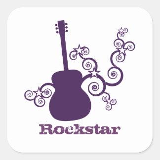 Pegatinas del cuadrado de la guitarra de Rockstar, Pegatina Cuadrada