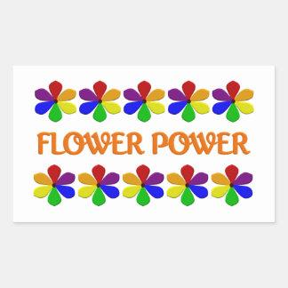 Pegatinas del flower power pegatina rectangular