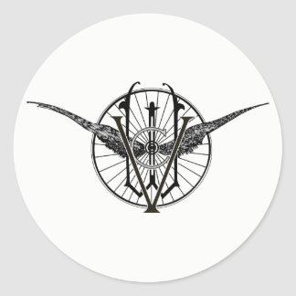 Pegatinas del logotipo del club de la rueda de pegatina redonda
