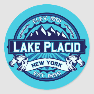 Pegatinas del logotipo del Lake Placid Pegatina Redonda