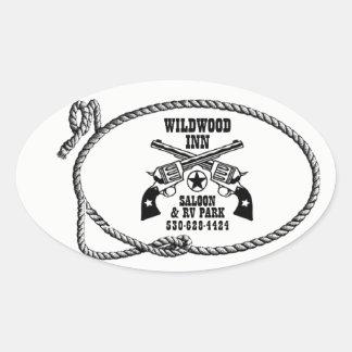 Pegatinas del logotipo del mesón de Wildwood Pegatina Ovalada