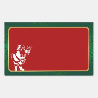 pegatinas del navidad rectangular altavoces