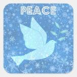 Pegatinas del navidad de la paloma de la paz calcomanía cuadradase