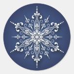 Pegatinas del navidad del copo de nieve del día de