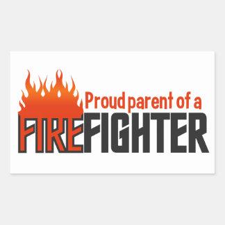 Pegatinas del padre del bombero, personalizable rectangular pegatinas