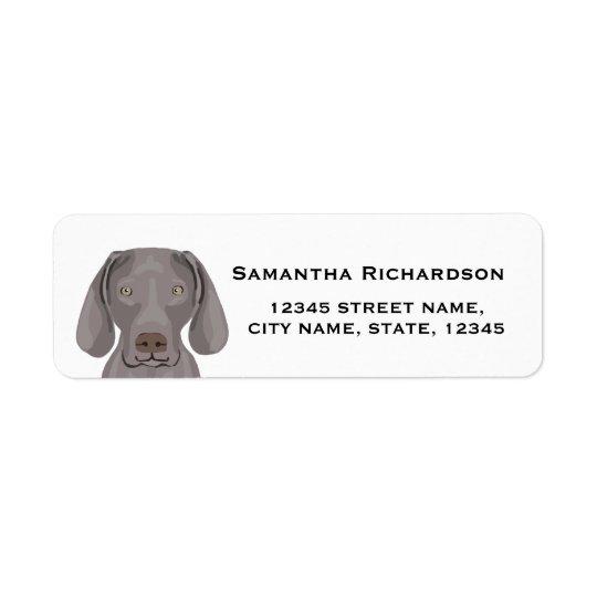 pegatinas del perro de la etiqueta del remite del