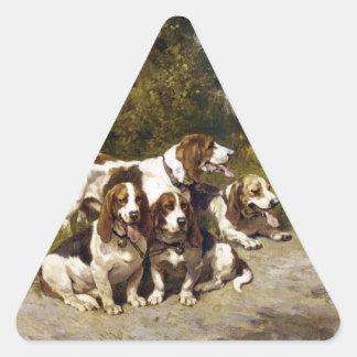 Pegatinas del perro Perros de caza - arte del vin