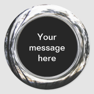 Pegatinas del personalizable del círculo pegatina redonda