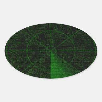 Pegatinas del radar pegatina ovalada