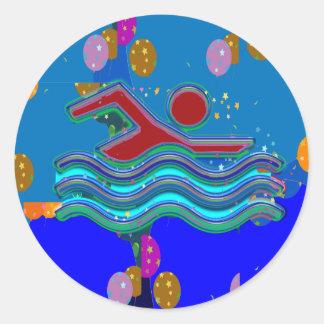 Pegatinas del saludo de GiftPack - decorativo Pegatina Redonda