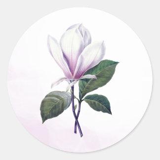Pegatinas del sello de la flor de la magnolia